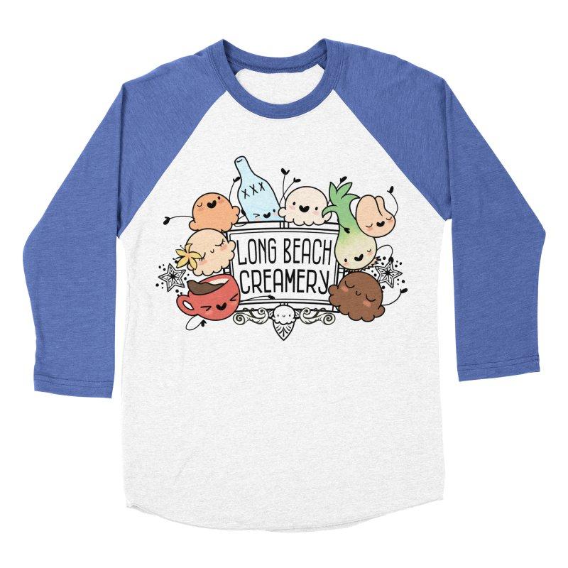 Long Beach Creamery Scoopie Logo Women's Baseball Triblend Longsleeve T-Shirt by Scoopie.Life