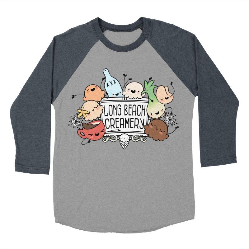 Long Beach Creamery Scoopie Logo Men's Baseball Triblend Longsleeve T-Shirt by Scoopie.Life