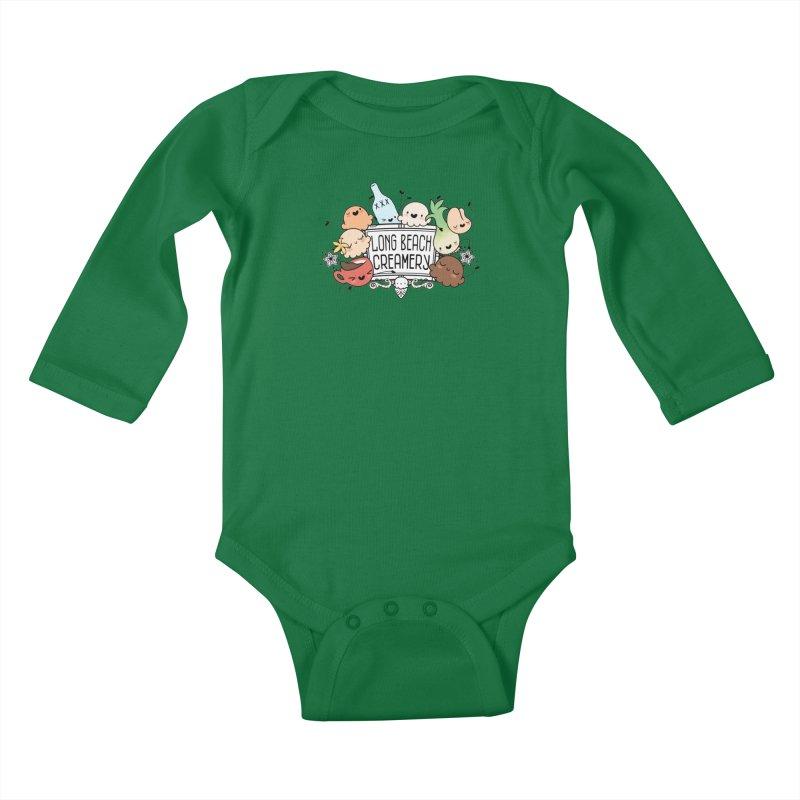 Long Beach Creamery Scoopie Logo Kids Baby Longsleeve Bodysuit by Scoopie.Life