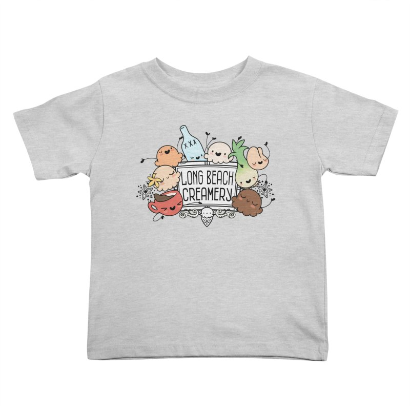 Long Beach Creamery Scoopie Logo Kids Toddler T-Shirt by Scoopie.Life