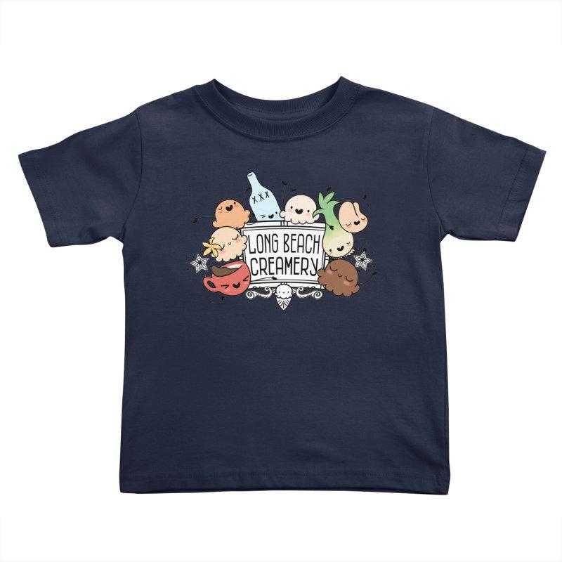 Long Beach Creamery Scoopie Logo Kids Toddler T-Shirt by Scoopie.Life