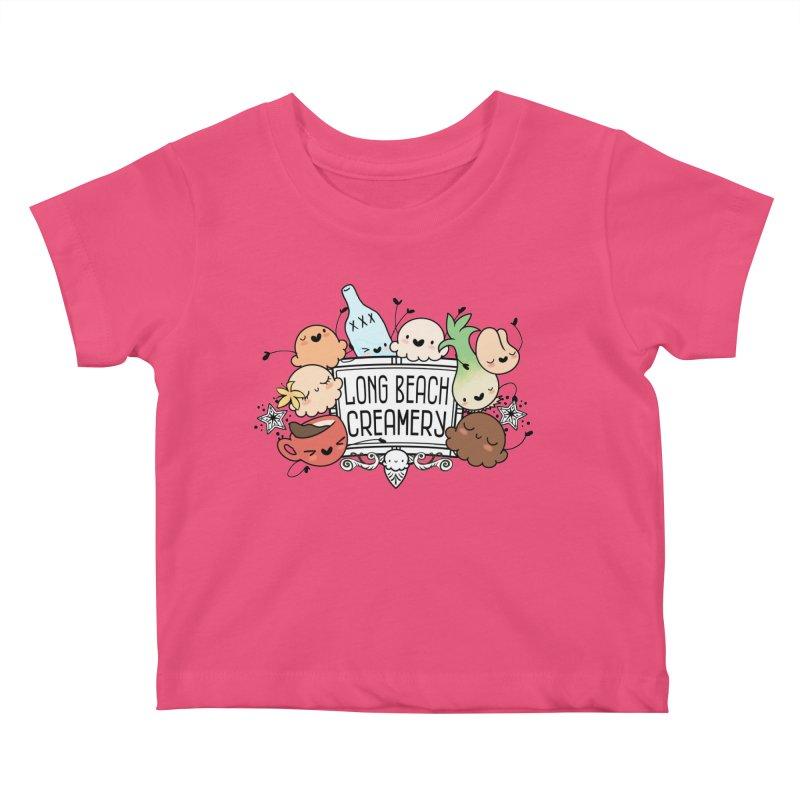 Long Beach Creamery Scoopie Logo Kids Baby T-Shirt by Scoopie.Life