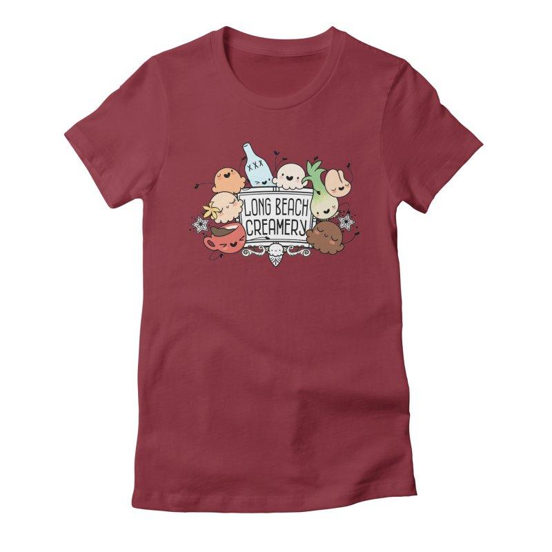 Long Beach Creamery Scoopie Logo Women's T-Shirt by Scoopie.Life