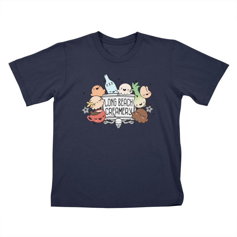 Long Beach Creamery Scoopie Logo Kids T-Shirt by Scoopie.Life