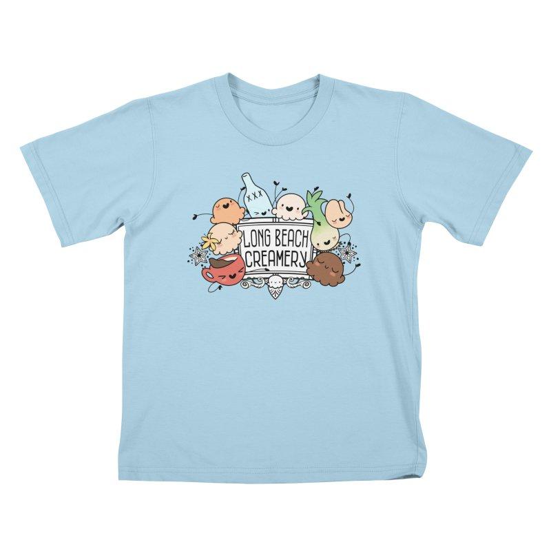 Long Beach Creamery Scoopie Logo Kids T-Shirt by Scoopie.Life