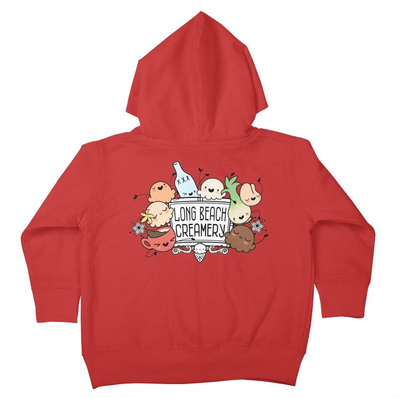 Long Beach Creamery Scoopie Logo Kids Toddler Zip-Up Hoody by Scoopie.Life