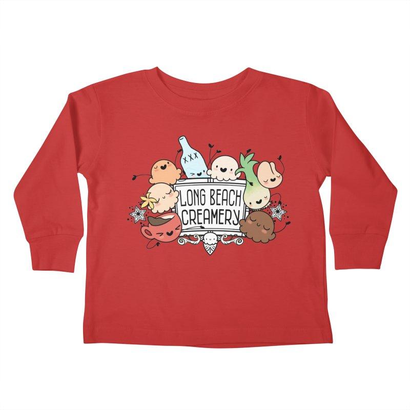 Long Beach Creamery Scoopie Logo Kids Toddler Longsleeve T-Shirt by Scoopie.Life