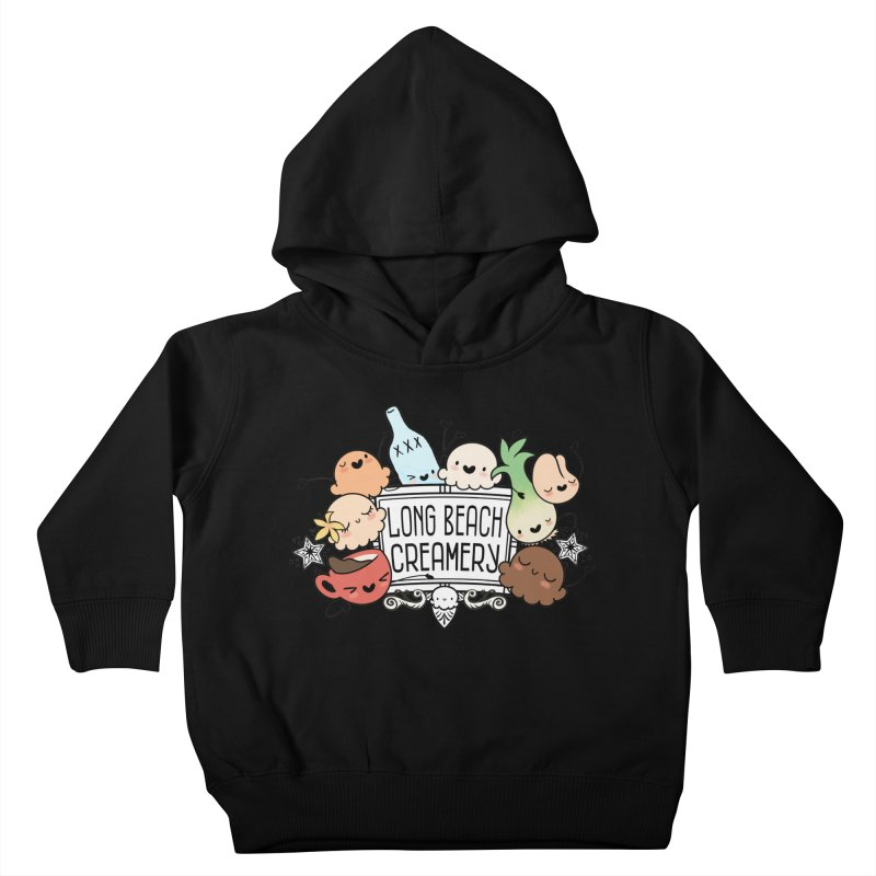 Long Beach Creamery Scoopie Logo Kids Toddler Pullover Hoody by Scoopie.Life