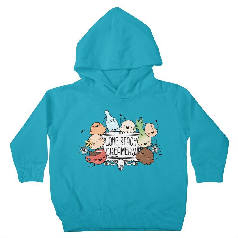 Long Beach Creamery Scoopie Logo Kids Toddler Pullover Hoody by Scoopie.Life