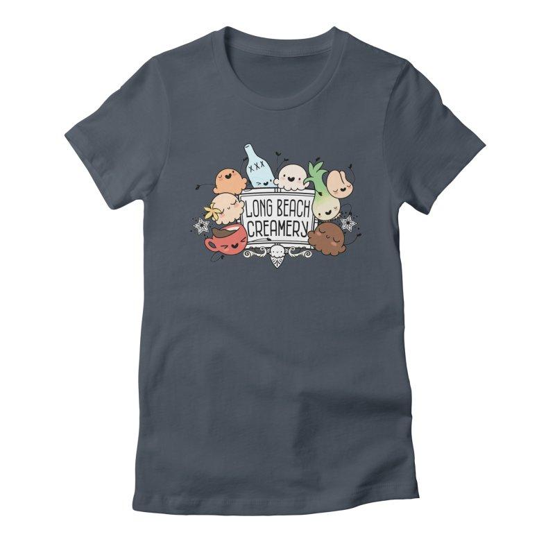 Long Beach Creamery Scoopie Logo Women's Fitted T-Shirt by Scoopie.Life