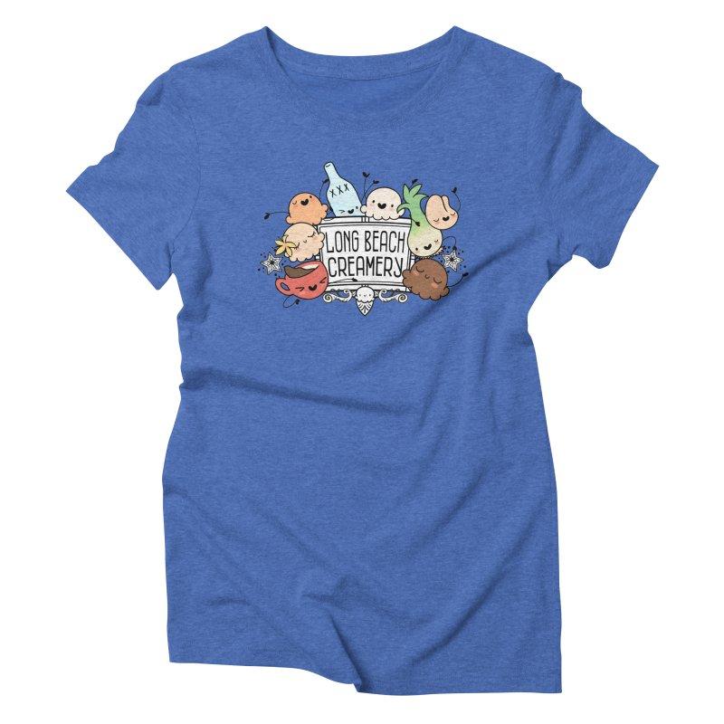 Long Beach Creamery Scoopie Logo Women's Triblend T-Shirt by Scoopie.Life
