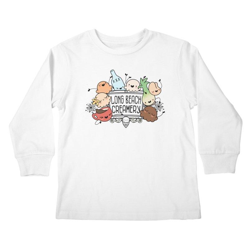 Long Beach Creamery Scoopie Logo Kids Longsleeve T-Shirt by Scoopie.Life