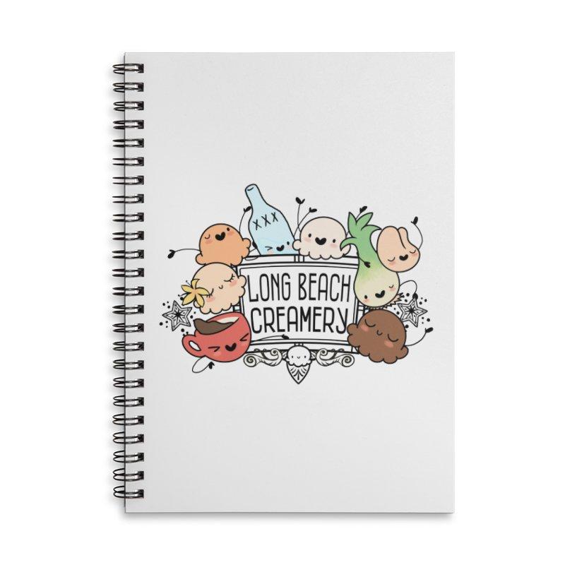 Long Beach Creamery Scoopie Logo Accessories Notebook by Scoopie.Life
