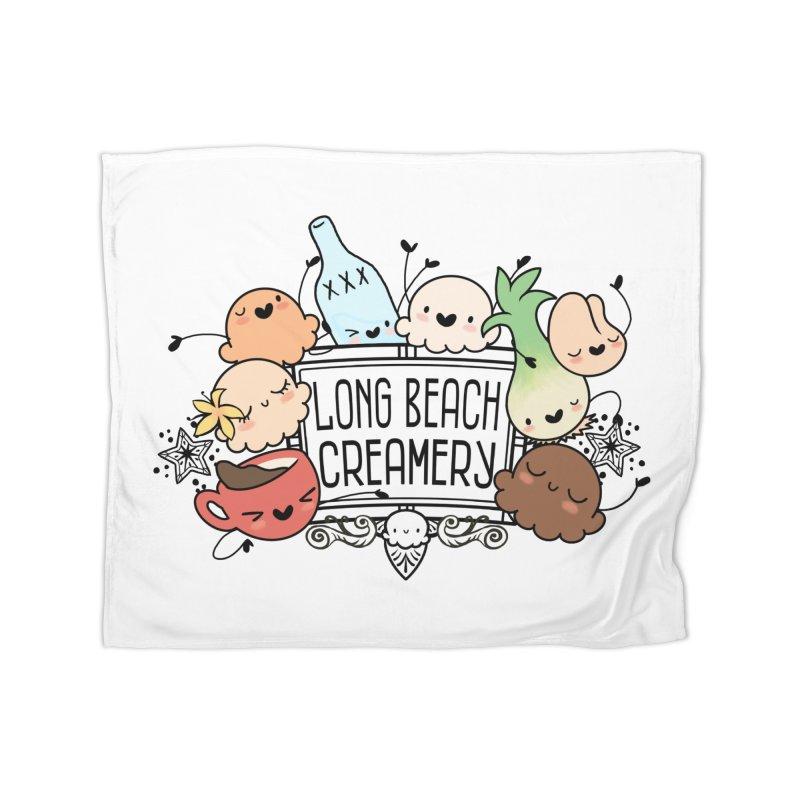 Long Beach Creamery Scoopie Logo Home Fleece Blanket Blanket by Scoopie.Life