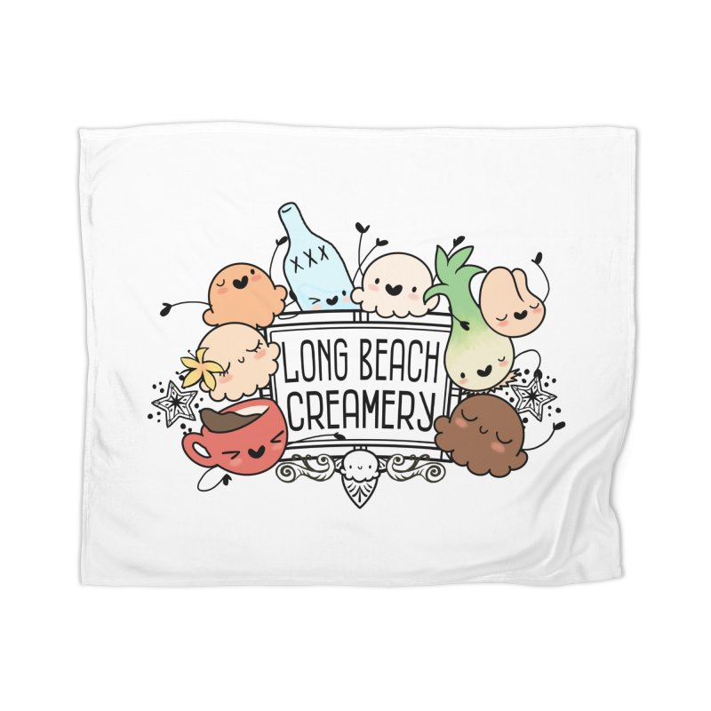 Long Beach Creamery Scoopie Logo Home Blanket by Scoopie.Life