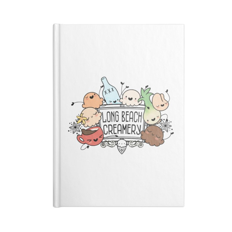 Long Beach Creamery Scoopie Logo Accessories Blank Journal Notebook by Scoopie.Life