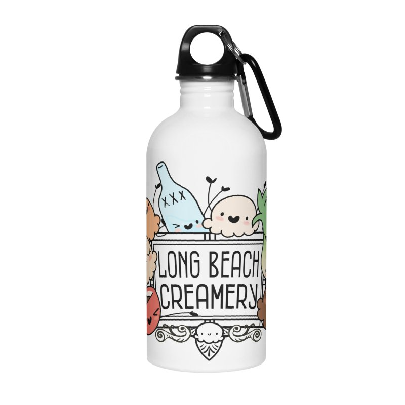 Long Beach Creamery Scoopie Logo Accessories Water Bottle by Scoopie.Life