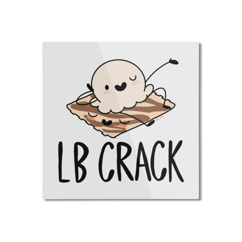 LB Crack Home Mounted Aluminum Print by Scoopie.Life