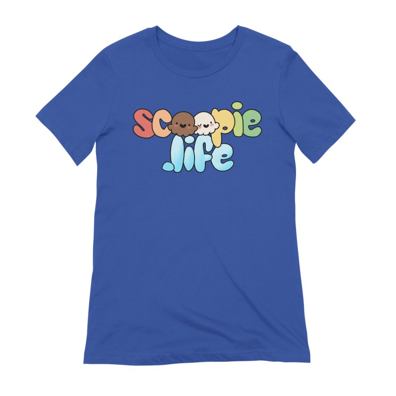 Scoopie Life - stacked version Women's Extra Soft T-Shirt by Scoopie.Life
