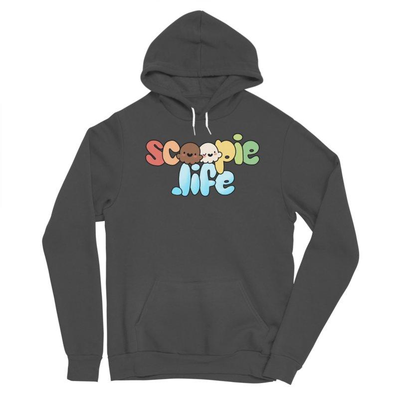 Scoopie Life - stacked version Women's Sponge Fleece Pullover Hoody by Scoopie.Life