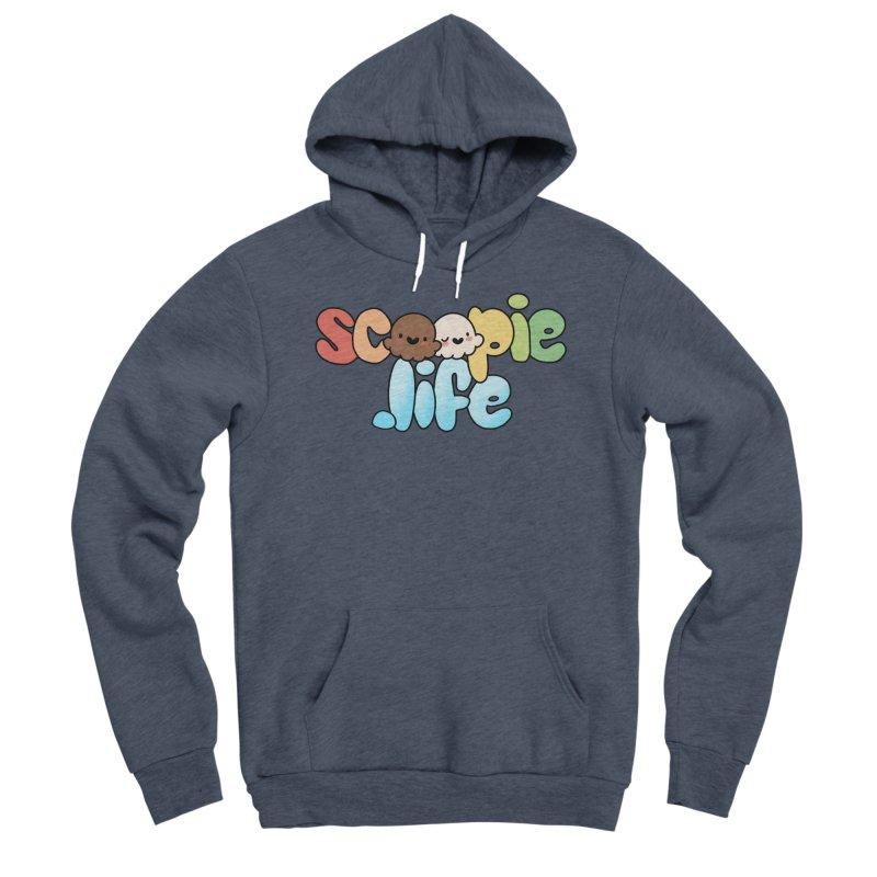 Scoopie Life - stacked version Men's Sponge Fleece Pullover Hoody by Scoopie.Life