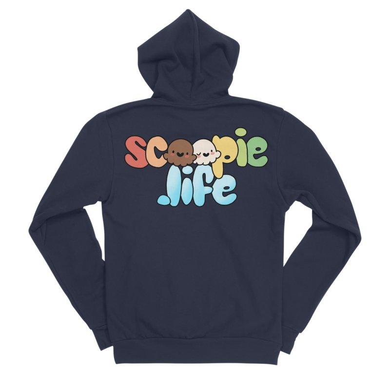 Scoopie Life - stacked version Men's Sponge Fleece Zip-Up Hoody by Scoopie.Life