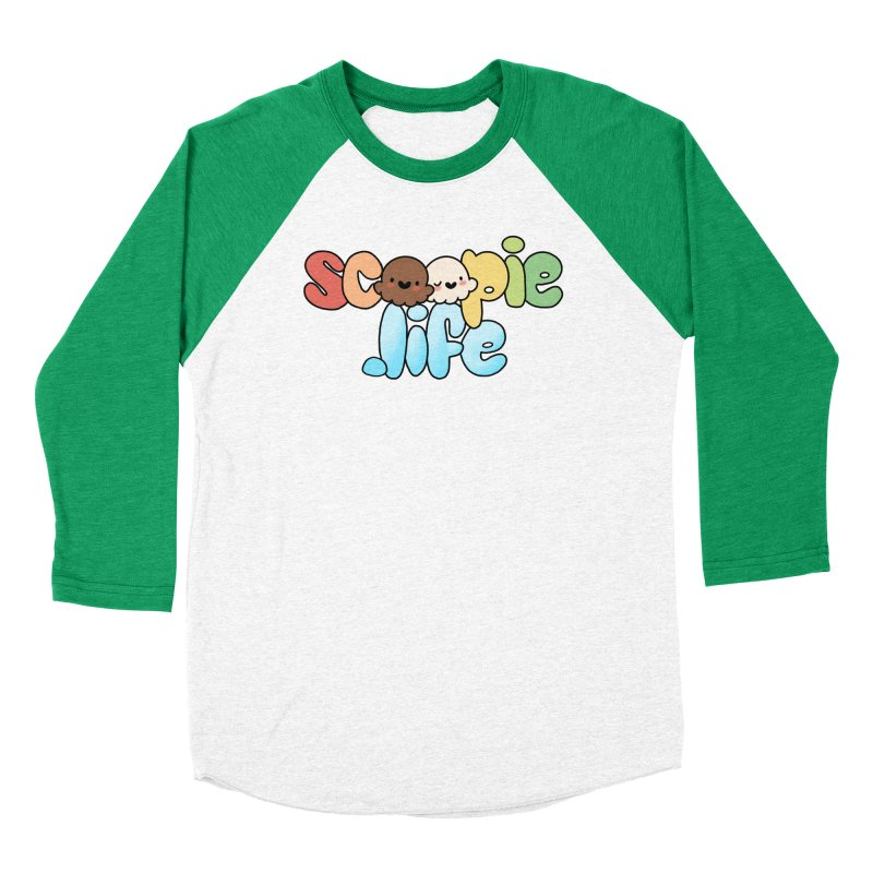 Scoopie Life - stacked version Women's Baseball Triblend Longsleeve T-Shirt by Scoopie.Life