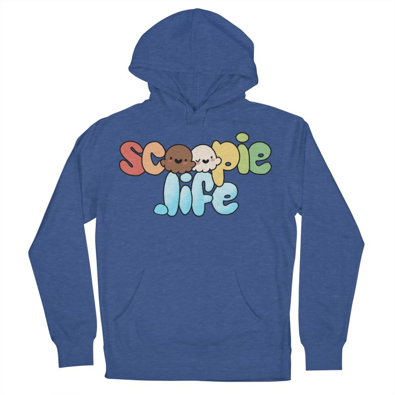 Scoopie Life - stacked version Men's French Terry Pullover Hoody by Scoopie.Life