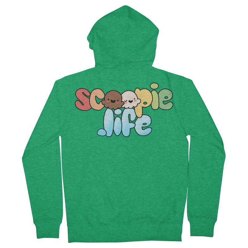 Scoopie Life - stacked version Women's French Terry Zip-Up Hoody by Scoopie.Life