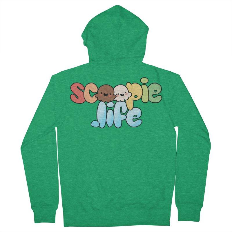 Scoopie Life - stacked version Men's Zip-Up Hoody by Scoopie.Life