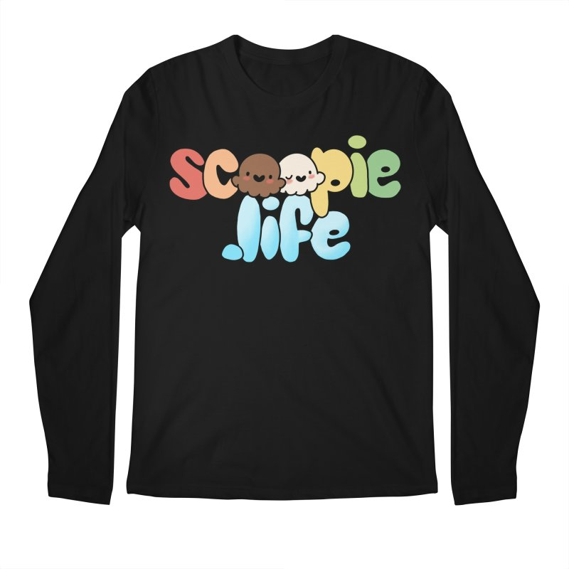 Scoopie Life - stacked version Men's Regular Longsleeve T-Shirt by Scoopie.Life