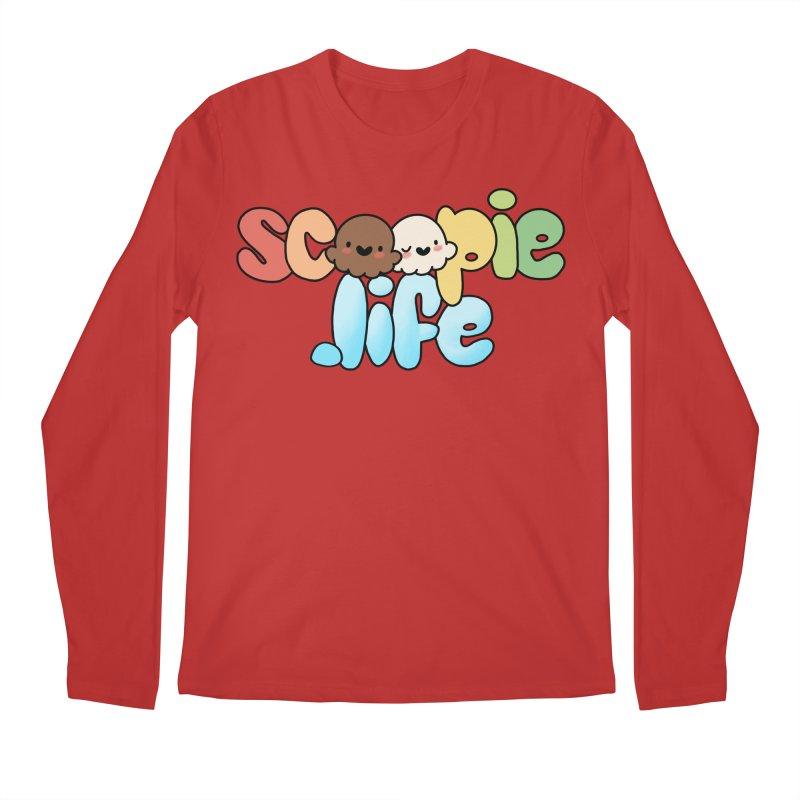 Scoopie Life - stacked version Men's Regular Longsleeve T-Shirt by Scoopie.Life