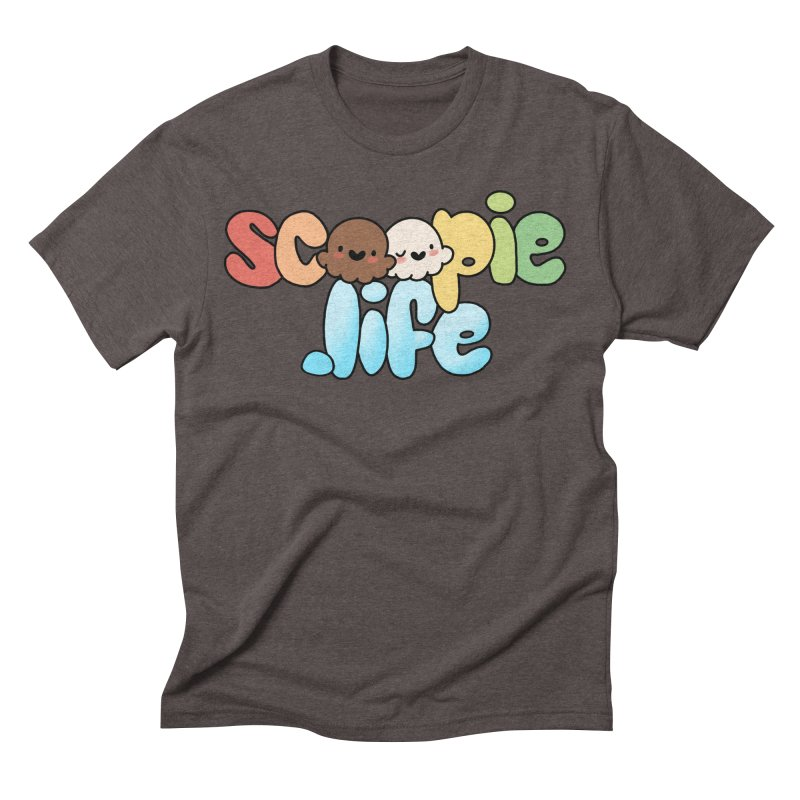 Scoopie Life - stacked version Men's Triblend T-Shirt by Scoopie.Life