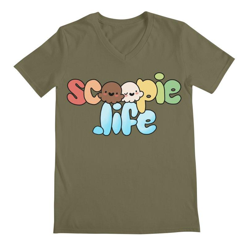 Scoopie Life - stacked version Men's Regular V-Neck by Scoopie.Life