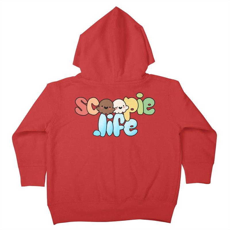 Scoopie Life - stacked version Kids Toddler Zip-Up Hoody by Scoopie.Life