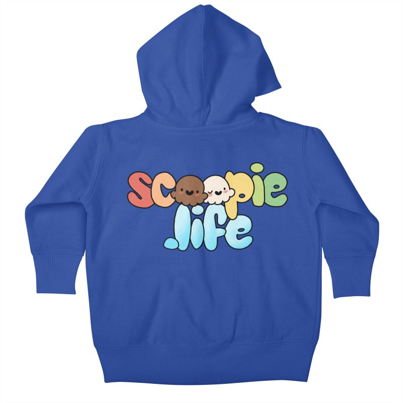 Scoopie Life - stacked version Kids Baby Zip-Up Hoody by Scoopie.Life