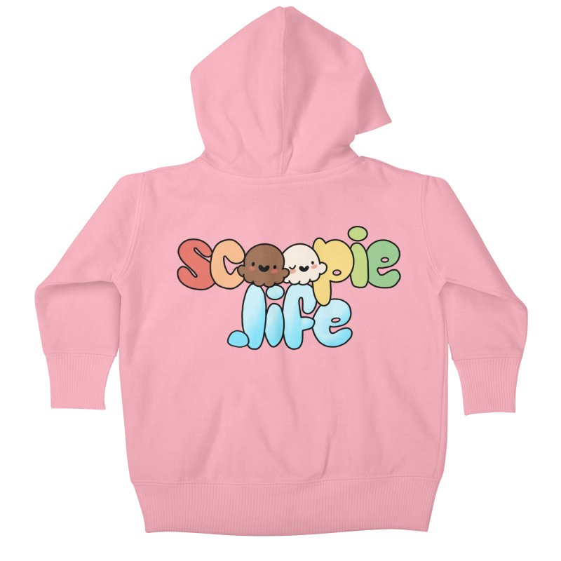Scoopie Life - stacked version Kids Baby Zip-Up Hoody by Scoopie.Life