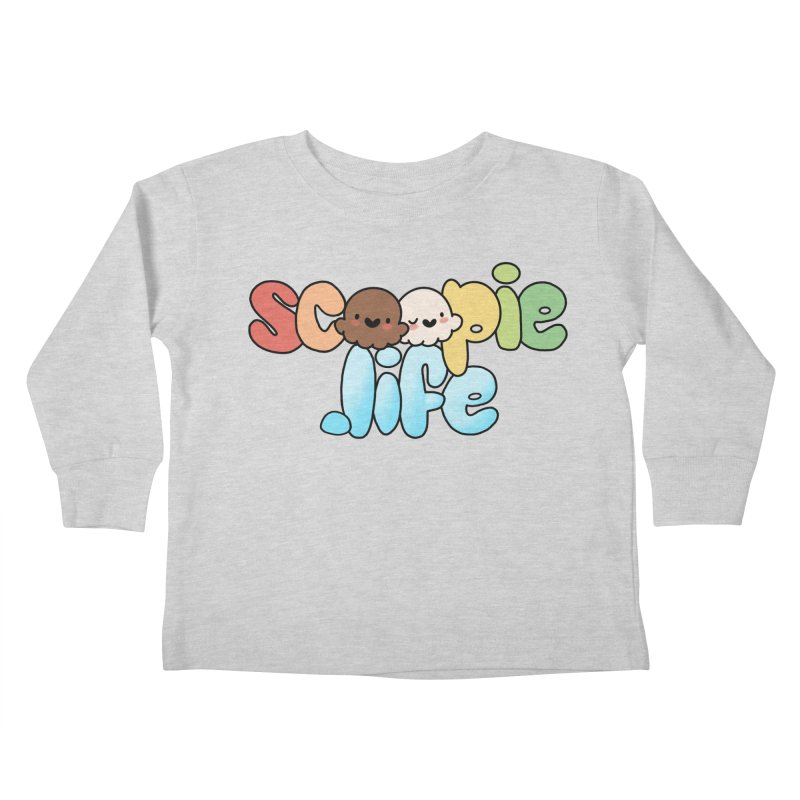 Scoopie Life - stacked version Kids Toddler Longsleeve T-Shirt by Scoopie.Life