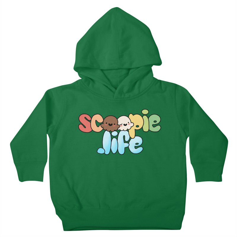 Scoopie Life - stacked version Kids Toddler Pullover Hoody by Scoopie.Life