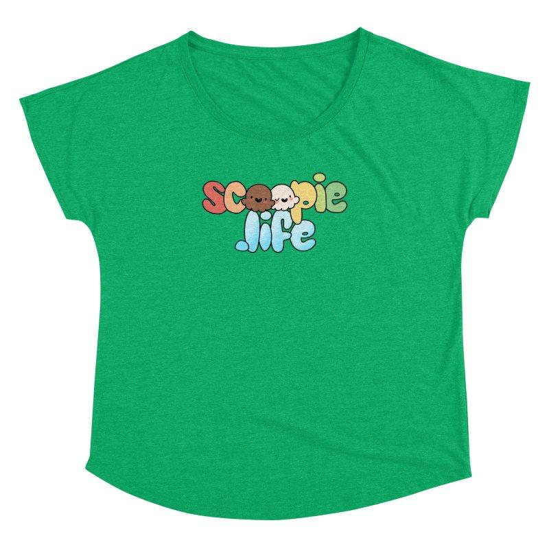 Scoopie Life - stacked version Women's Dolman Scoop Neck by Scoopie.Life