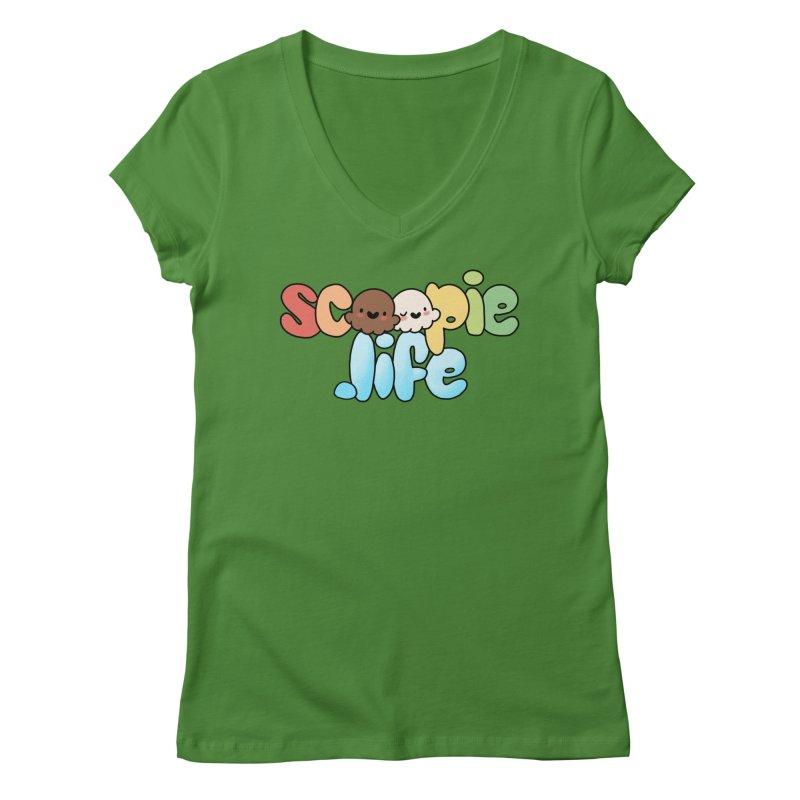 Scoopie Life - stacked version Women's Regular V-Neck by Scoopie.Life