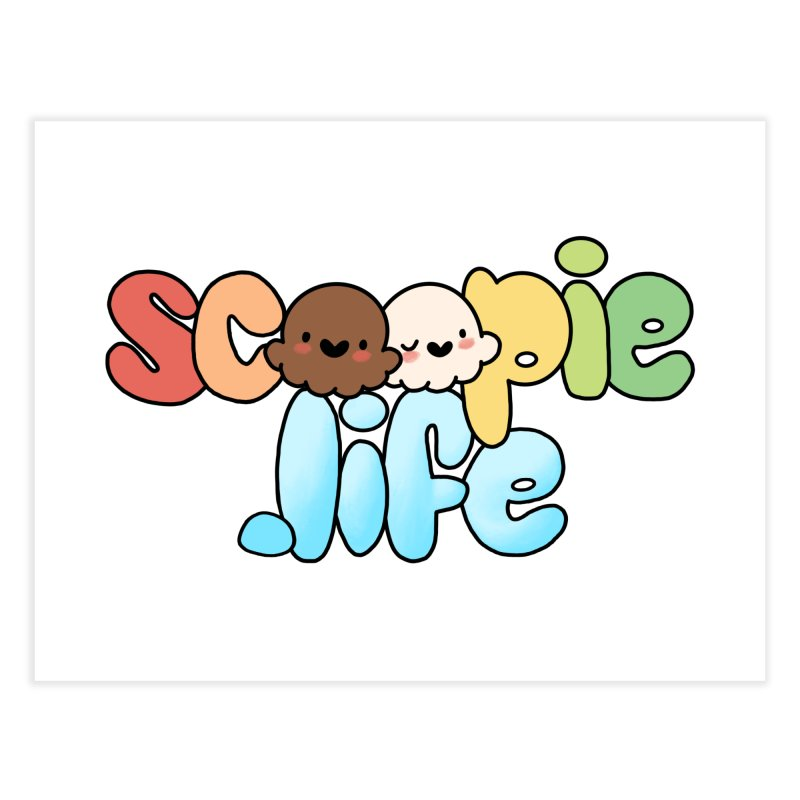 Scoopie Life - stacked version Home Fine Art Print by Scoopie.Life
