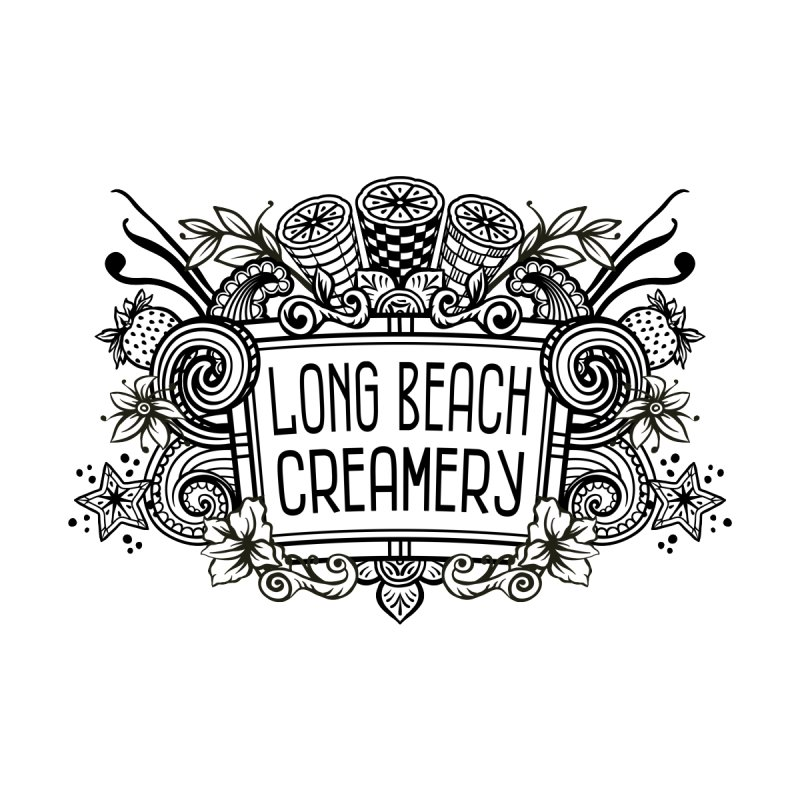 Long Beach Creamery Logo Men's T-Shirt by Scoopie.Life