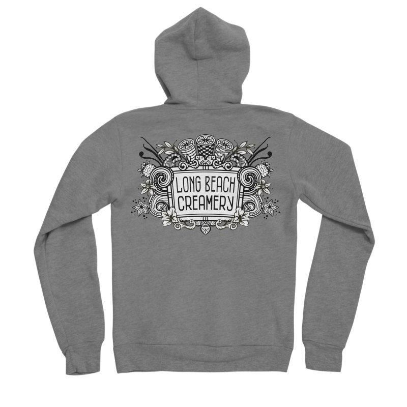 Long Beach Creamery Logo Men's Sponge Fleece Zip-Up Hoody by Scoopie.Life