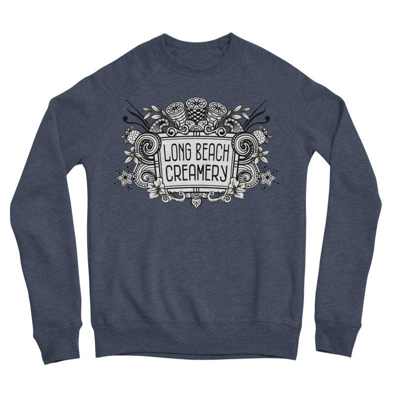 Long Beach Creamery Logo Men's Sponge Fleece Sweatshirt by Scoopie.Life