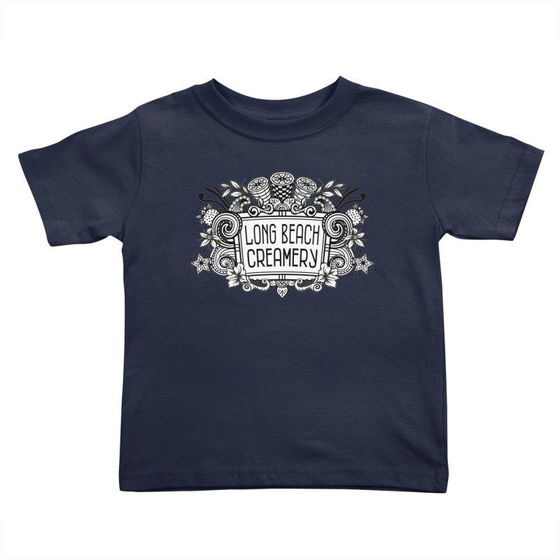 Long Beach Creamery Logo Kids Toddler T-Shirt by Scoopie.Life