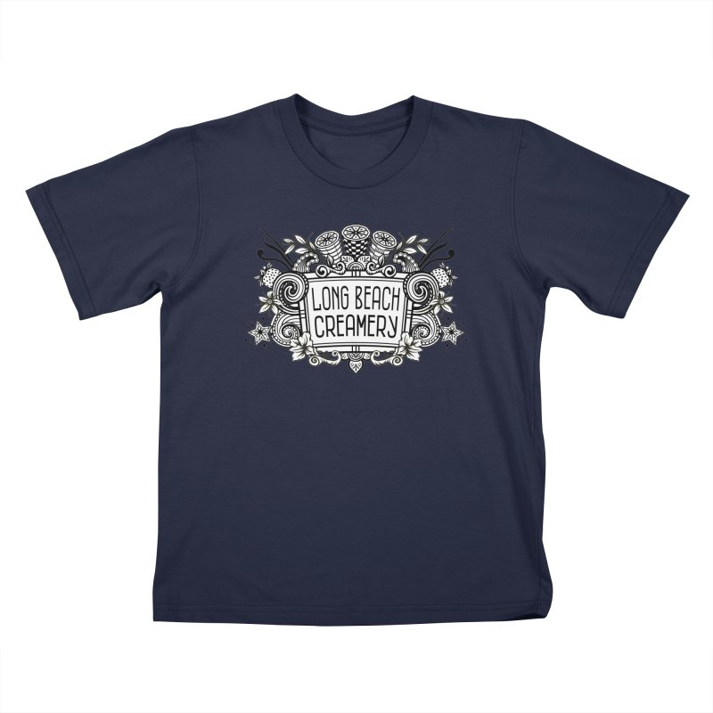 Long Beach Creamery Logo Kids T-Shirt by Scoopie.Life