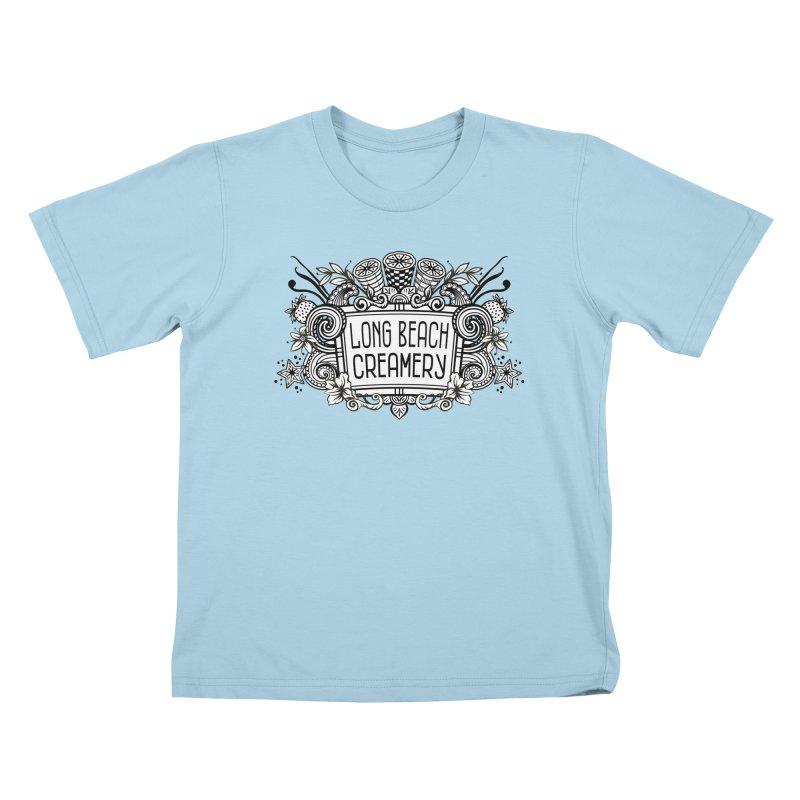 Long Beach Creamery Logo Kids T-Shirt by Scoopie.Life