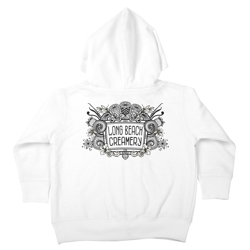 Long Beach Creamery Logo Kids Toddler Zip-Up Hoody by Scoopie.Life