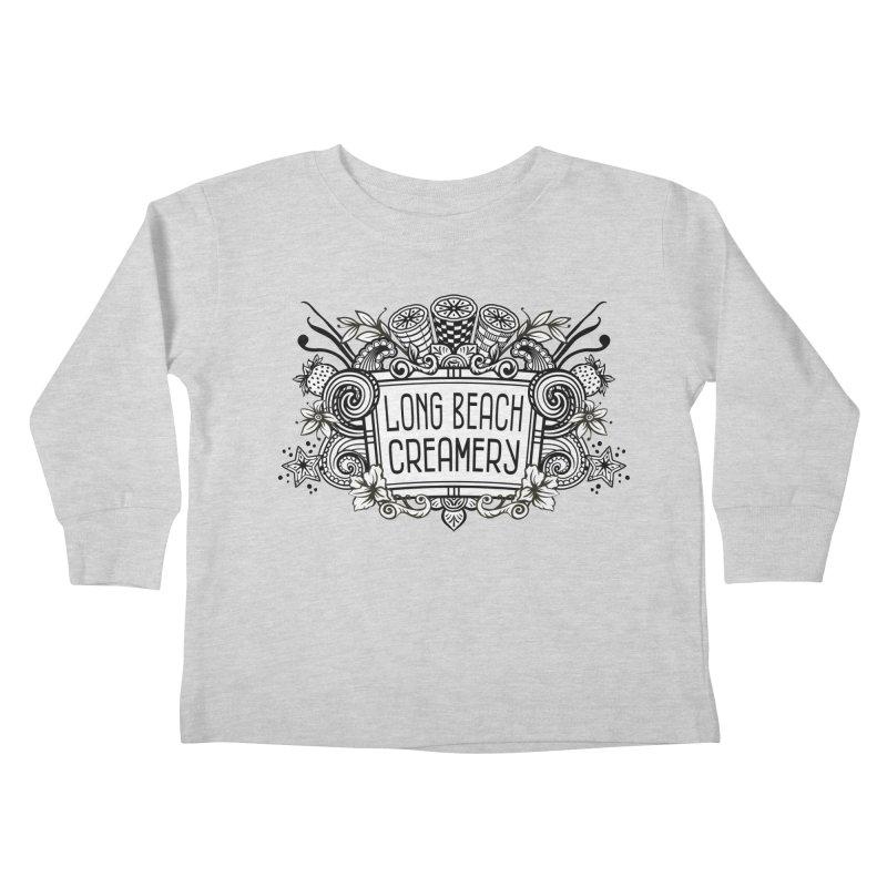 Long Beach Creamery Logo Kids Toddler Longsleeve T-Shirt by Scoopie.Life